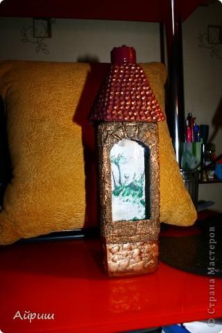 Почти повторюшка.Идея крыши и рисунка мои.Бутылка водки на день рождения друга. фото 1
