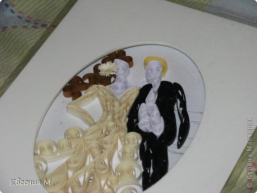 Это подарок на свадьбу. конечно же с помощью квиллинга фото 3