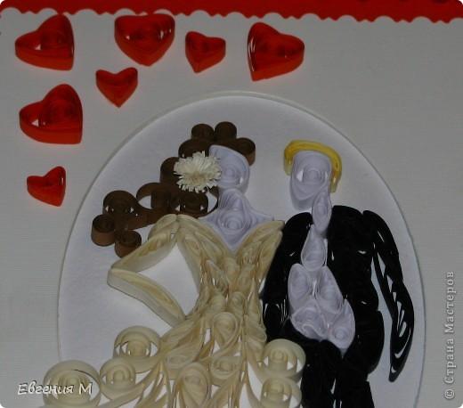 Это подарок на свадьбу. конечно же с помощью квиллинга фото 4