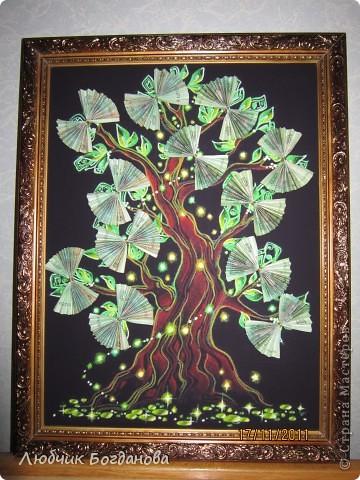 Денежное дерево, подарок на свадьбу. фото 1