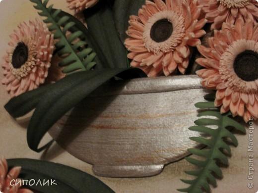 ЗДРАВСТВУЙТЕ ЖИТЕЛИ И ГОСТИ СТРАНЫ!  Сегодня я к вам с герберами. Очень люблю я эти цветы,поэтому не удержалась и попыталась сделать их . Как получилось судить вам, но сама я результатом довольна.  фото 2