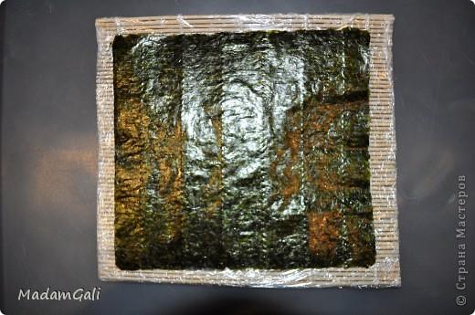 Простые роллы с лососем ( Хосомаки Сяке маки) фото 6