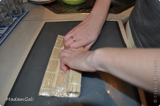 Простые роллы с лососем ( Хосомаки Сяке маки) фото 16