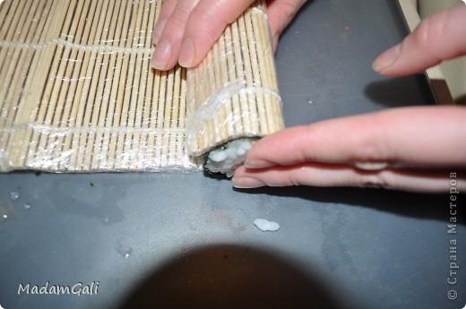 Простые роллы с лососем ( Хосомаки Сяке маки) фото 17