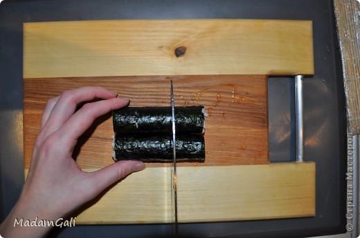 Простые роллы с лососем ( Хосомаки Сяке маки) фото 20