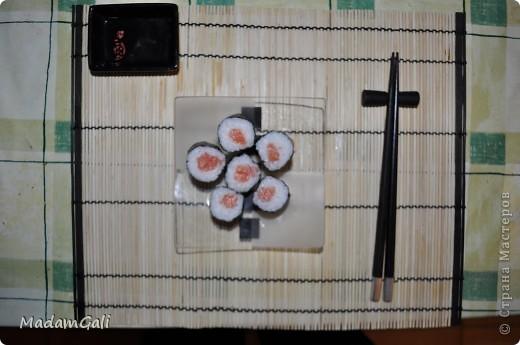 Простые роллы с лососем ( Хосомаки Сяке маки) фото 21