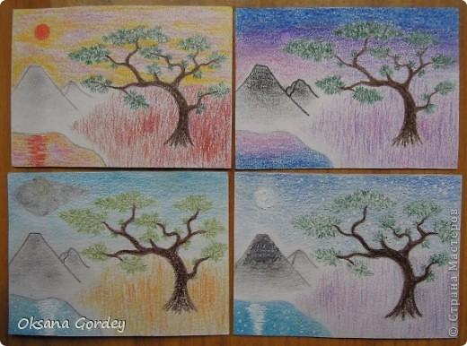 Это очередная серия моего сына. Рисовал акварельными карандашами на акварельной бумаге.  фото 1