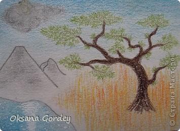 Это очередная серия моего сына. Рисовал акварельными карандашами на акварельной бумаге.  фото 3