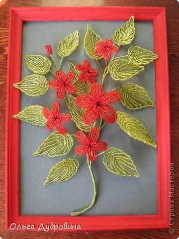 Цветочное панно из бисера