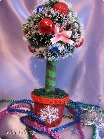 Новогоднее деревце и я решила создать, думаю ствол толстоват, а вы как думаете? фото 1