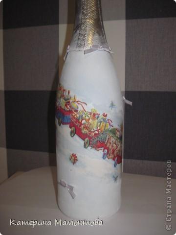 Вот и готовы мои новогодние бутылочки)) первый заказ! урррра!!! копейки, конечно (хорошая девочка заказала, стыдно было много брать)), но все равно приятно))) фото 3
