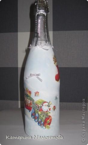 Вот и готовы мои новогодние бутылочки)) первый заказ! урррра!!! копейки, конечно (хорошая девочка заказала, стыдно было много брать)), но все равно приятно))) фото 2