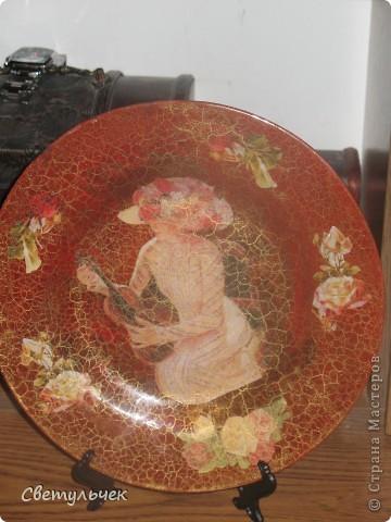 """Тарелка """"Дама со   скрипкой"""" фото 1"""
