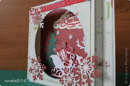 Всем доброго времени суток. Наконец и у нас случилась Новогодняя открытка. Идею подсмотрела здесь- http://scrap-info.ru/myarticles/article_storyid_310.html .Украсила по своему. фото 2