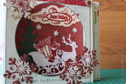Всем доброго времени суток. Наконец и у нас случилась Новогодняя открытка. Идею подсмотрела здесь- http://scrap-info.ru/myarticles/article_storyid_310.html .Украсила по своему. фото 3