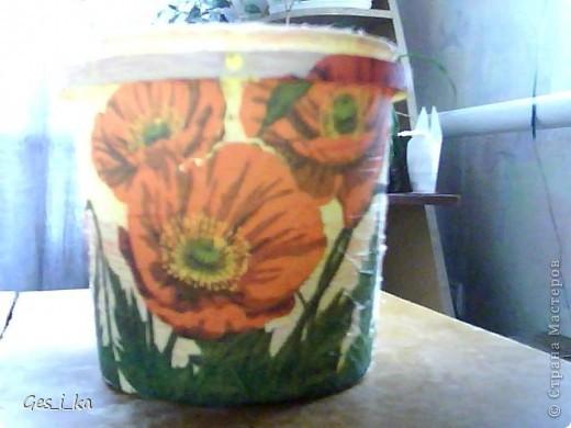 сплела кашпо для цветка/ размер в высоту 24см, диаметр дна 24 см, диаметр верха 33 см. Теперь хочется такую корзинку. фото 5