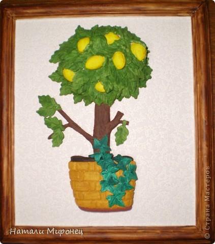 Понемножку доделываю свои полепушки. Вот такое лимонное деревце у меня получилось. Никак оно не хотело фотографироваться нормально фото 1