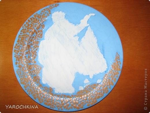 На фото не видно, но все тарелочки переливаются блесточками) фото 6