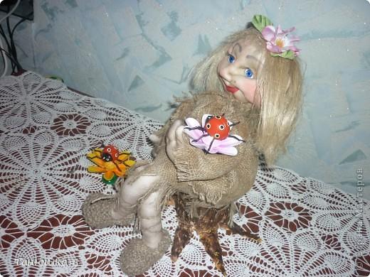 Вот решилась наконец то сделать молодую кикиморку и назвала её Марьей. фото 3