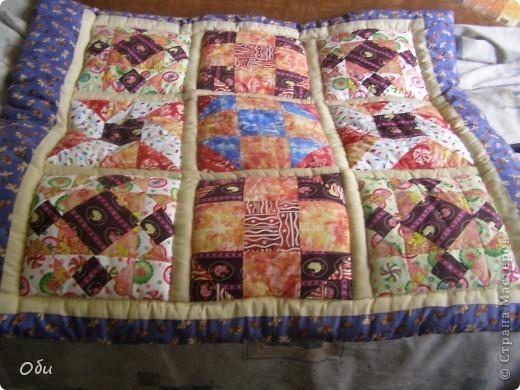 Вот такое одеяло сшила внуку на первый день рождения. Одеяло первое, ошибок полно. фото 1