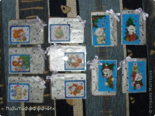 """Доброго времени суток всем жителям СМ!Вот такие """"Новогодние"""" карточки я сотворила. Я планирую подарить их на Новый год друзьям, как открытки))) фото 1"""
