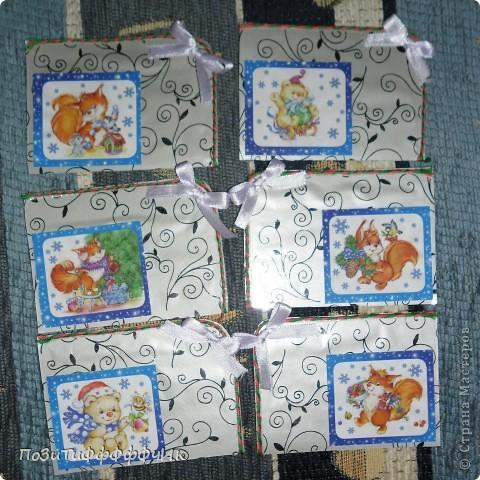 """Доброго времени суток всем жителям СМ!Вот такие """"Новогодние"""" карточки я сотворила. Я планирую подарить их на Новый год друзьям, как открытки))) фото 3"""