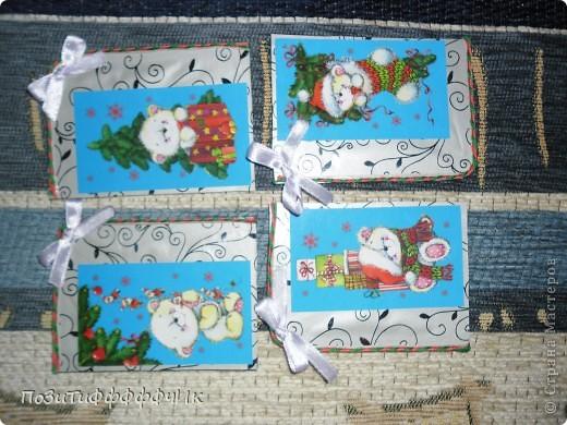 """Доброго времени суток всем жителям СМ!Вот такие """"Новогодние"""" карточки я сотворила. Я планирую подарить их на Новый год друзьям, как открытки))) фото 2"""