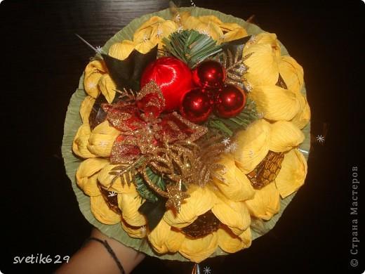 Решила сделать ручные букетики в подарок подружкам на Новый год . Необычно и красиво.Думаю им понравится. фото 3