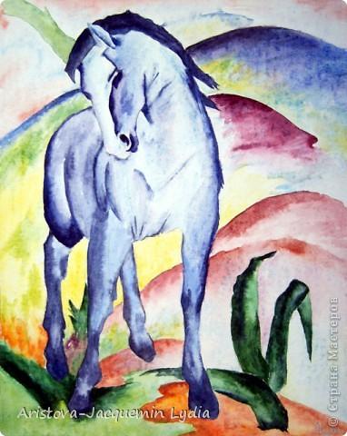 И просятся кони в полет  Акварель Пастель Ткань фото 4
