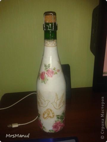 Попробовала оформить не пустые бутылки. прошу прощение за качество фотографий. фото 4