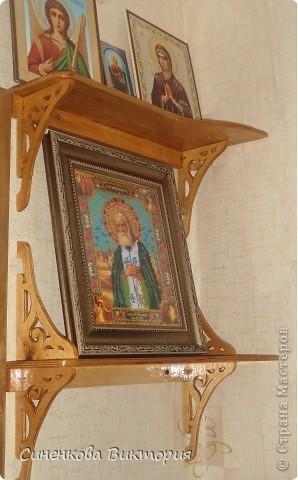С этой иконы св. прп.Серафима Саровского,вышитой бисером(по благословению) и началась моя любовь к бисеру... фото 1