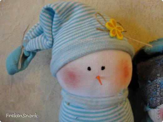 Снеговички-носки! аля тильда фото 2
