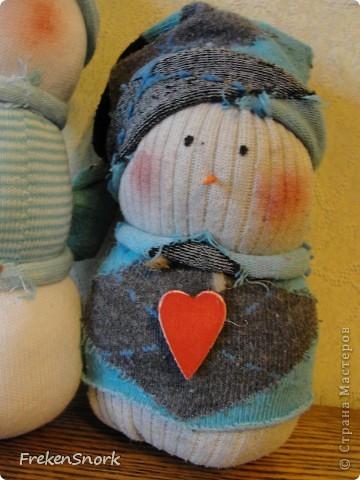 Снеговички-носки! аля тильда фото 3