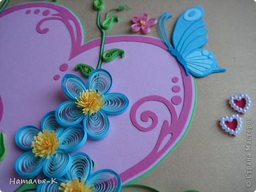 Картина панно рисунок День семьи Аппликация Квиллинг Семейное гнёздышко Бумажные полосы Картон Клей фото 17