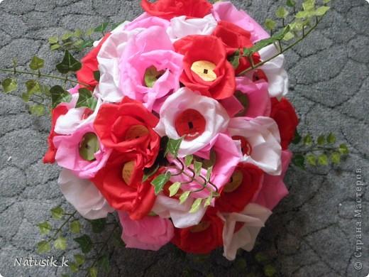 Букет из 29 цветочка. Вид с верху. фото 1