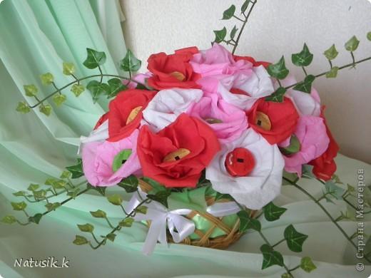 Букет из 29 цветочка. Вид с верху. фото 2