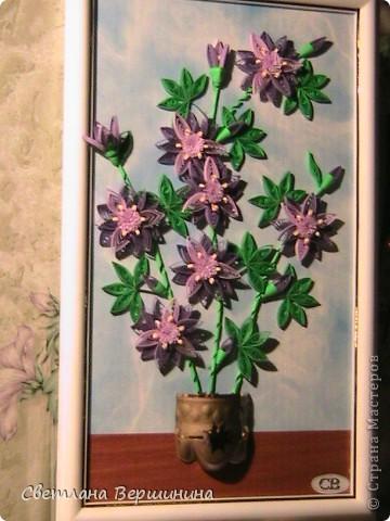 1. Очень хотела сделать сиреневые цветы. И вот что получилось. Но вроде чего-то не хватает  фото 1