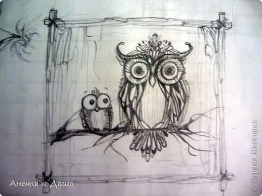 """Здравствуйте! Сегодня я покажу вам некоторые из моих рисунков. На этом фото можно увидеть эскиз и основной рисунок """" Комната Алисы"""". Эта работа выставлялась на конкурс по оформлению комнат, интересным решениям. фото 25"""