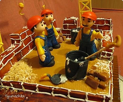 Именинный торт для профессионального строителя. Именинник был шокирован, но очень доволен :) фото 4