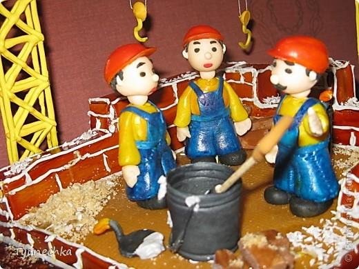 Именинный торт для профессионального строителя. Именинник был шокирован, но очень доволен :) фото 3