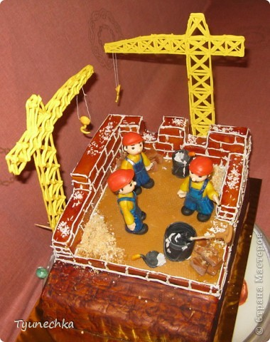 Именинный торт для профессионального строителя. Именинник был шокирован, но очень доволен :) фото 5