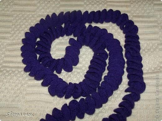 2 м шарф, связанный на день рождения. Хотела еще ободок сделать другим цветом но владелица попросила чтоб был однотонный. Что же, как говорят, хозяин барин! фото 1