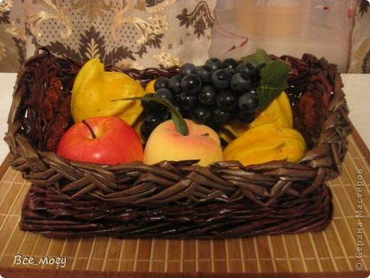 Подносик с декоративными фруктами фото 1