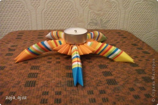 Оригами подсвечник схема