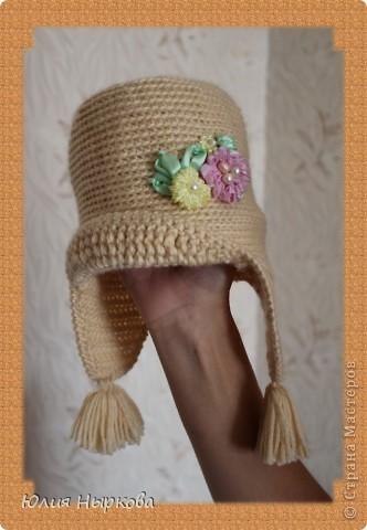 Моя первая сумка .Вязанная крючком и расшитая цветами из лент. фото 2