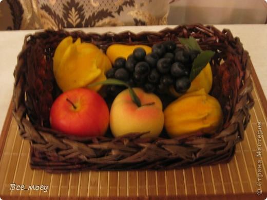 Подносик с декоративными фруктами фото 8