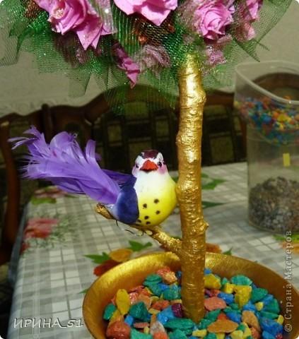 Топиарий сделала  в подарок на День Рождение! Надеюсь имениннице понравится моя работа! фото 3