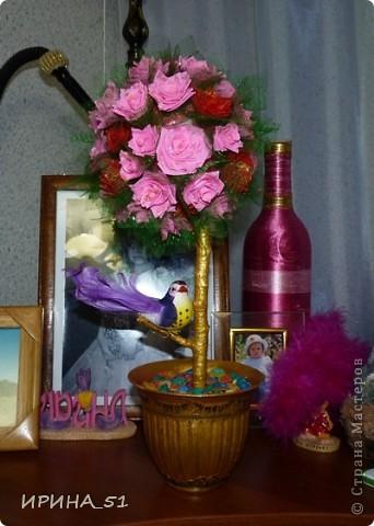 Топиарий сделала  в подарок на День Рождение! Надеюсь имениннице понравится моя работа! фото 4