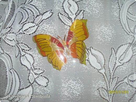 Бабочка из пластиковых бутылок.
