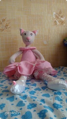 Кошечка балерина. Выкройку можно посмотреть по этой ссылке http://sunduchokruk.ru/post179046842/ фото 2